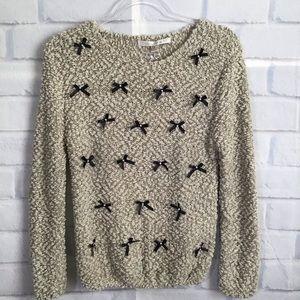 LC Lauren Conrad NWT Ribbon &Pearl Sweater